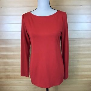 Eileen Fisher Long Sleeve Casual Basic Blouse Top